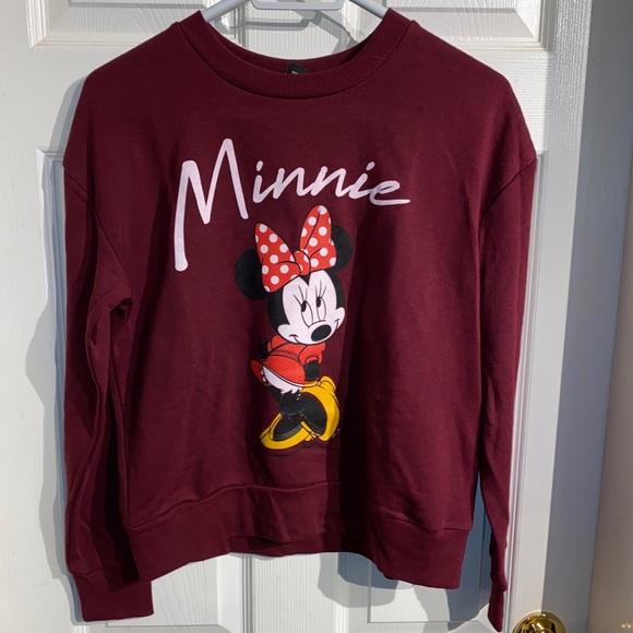 Disney Minnie Mouse crop crew Size Medium